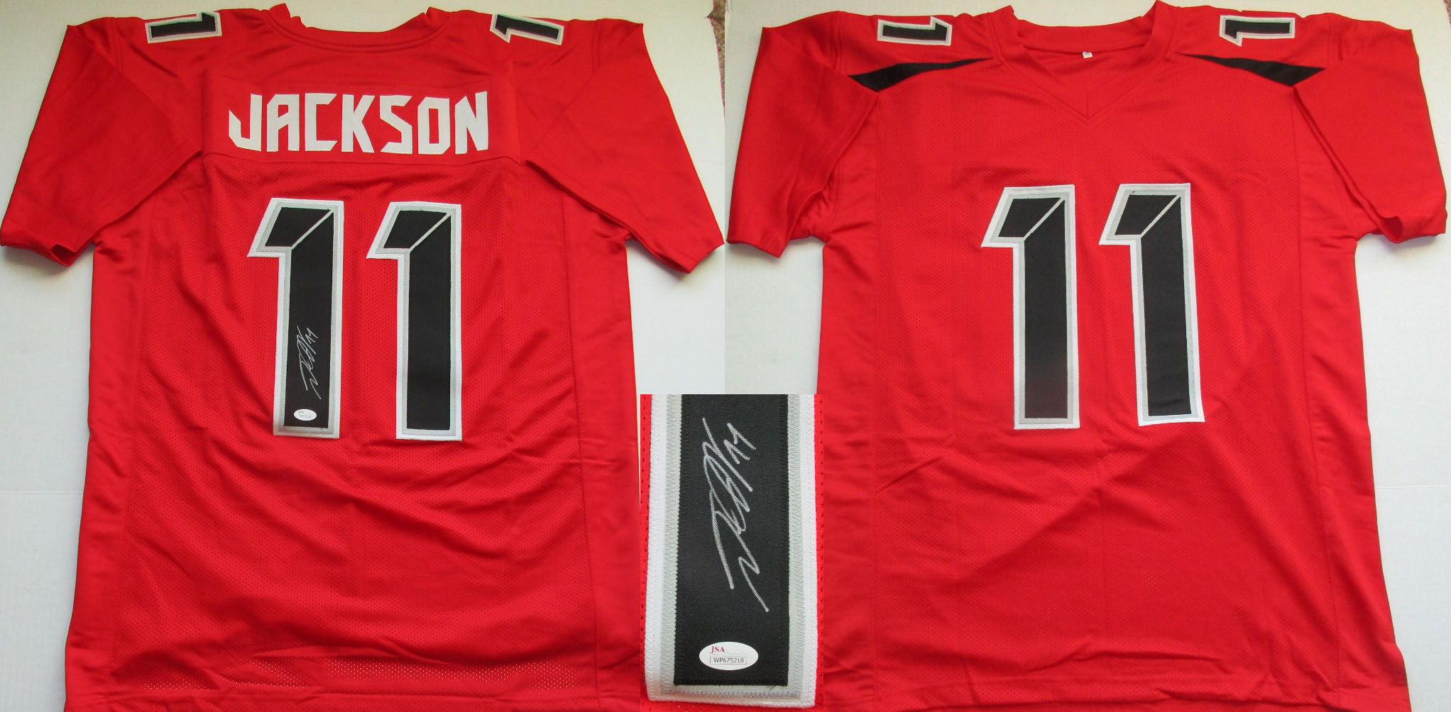 DeSean Jackson Autographed Tampa Bay Buccaneers Custom Jersey (Size XL w  sewn numbers + letters-JSA- 150) b0f516547