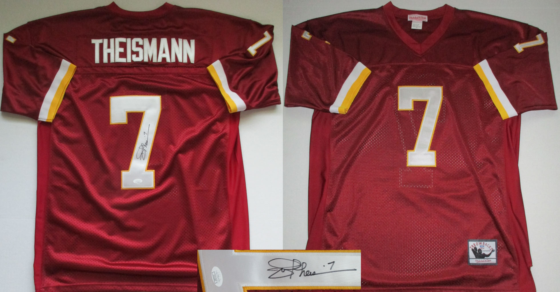 Joe Theismann Autographed Washington Redskins Throwback Jersey (Size 54 w  sewn numbers + letters-JSA- 150) 5d5ca867b