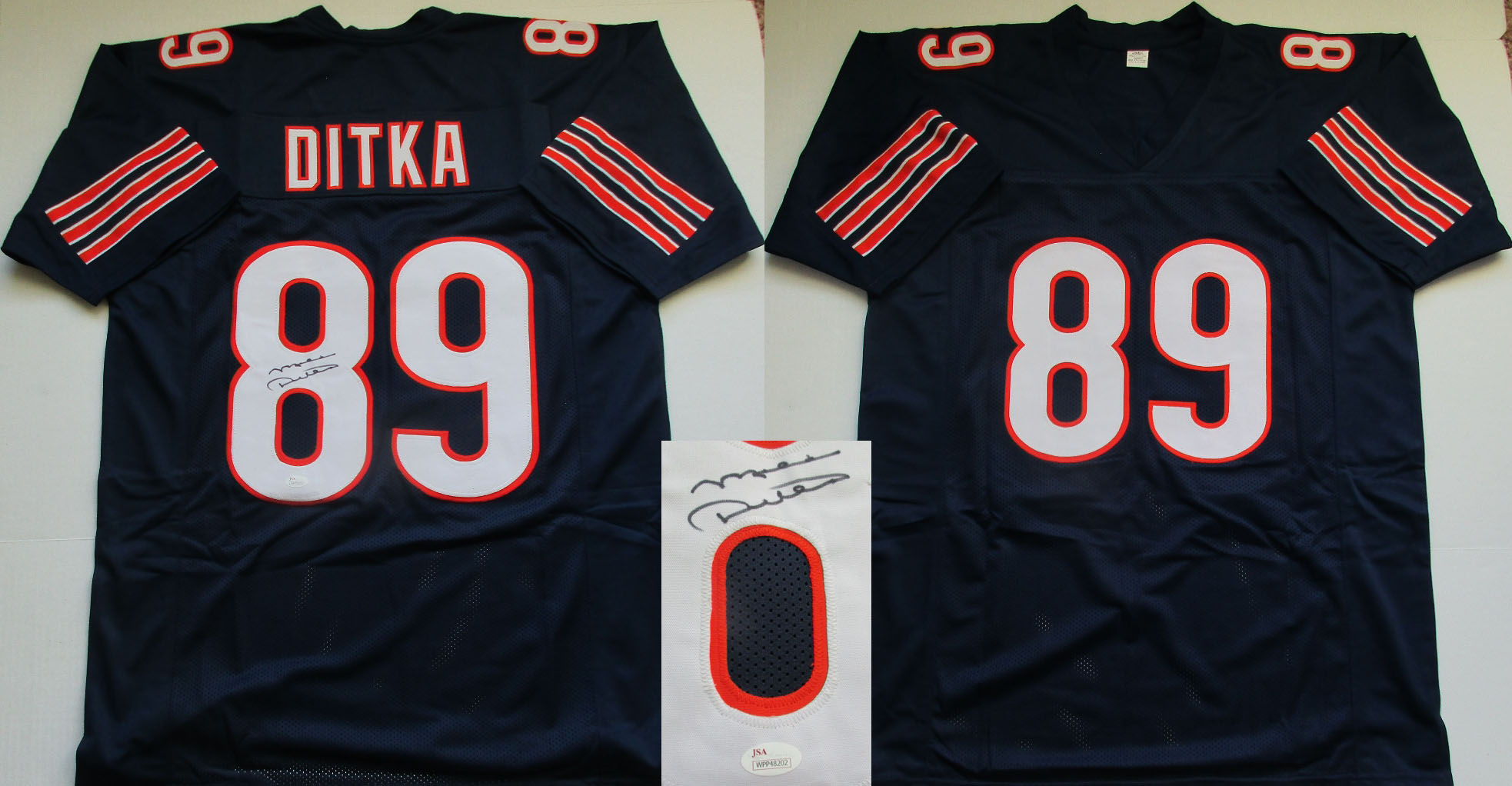 36d6522c7 Mike Ditka Autographed Chicago Bears Custom Jersey (Size XL w sewn numbers  + letters-JSA- 150)
